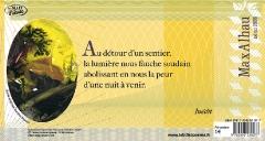 Poème inédit de Max Alhau accompagné d'une oeuvre  originale de Danièle Brussot