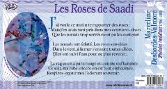 Texte intégral du poème 'les Roses de Saadi' de Marceline DESBORDES VALMORE accompagné d'un détail de l'oauvre originale de Danièle Brussot