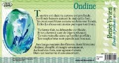Texte intégral du poème 'Ondine' de Renée Vivien accompagné d'une ouevre originale de Jean Jacques GRAND, peintre et calligraphe