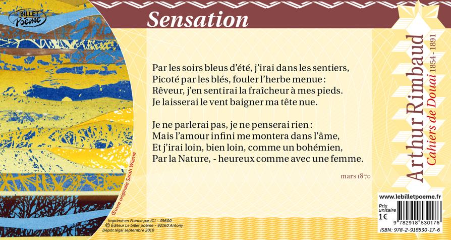 Billet 18 Sensation Darthur Rimbaud Le Billet Poème