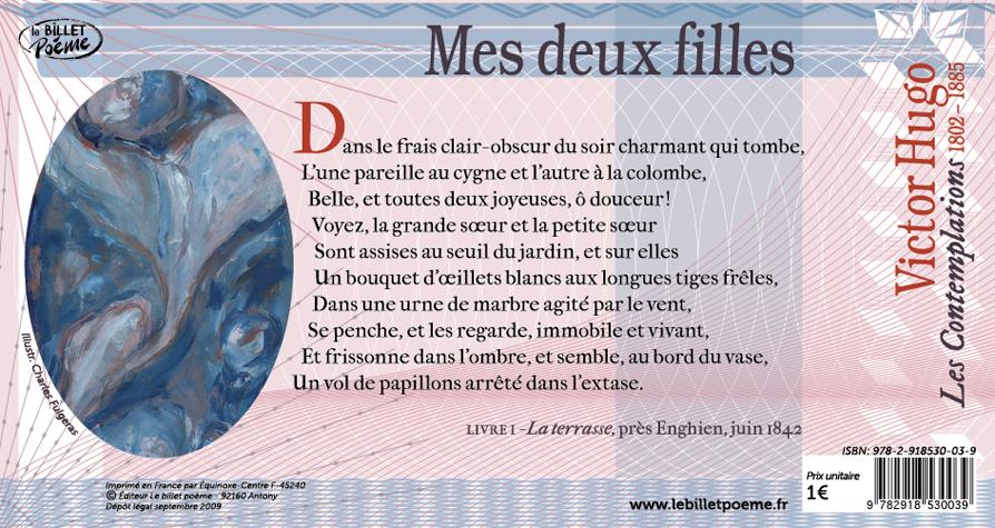 Billet N7 Mes Deux Filles Victor Hugo Le Billet Poème
