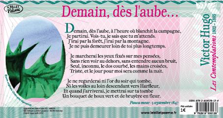 Billet 14 Demain Dès L Aube De Victor Hugo Le Billet Poème