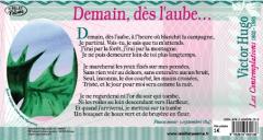 """""""Demain dès l'aube..."""" de Victor HUGO '1802-1885), tiré du recueil """"Les contemplations"""", accompagné d'une oeuvre originale de Christophe Vigouroux"""