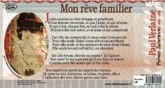 """""""Mon rêve familier"""" de Paul Verlaine (1844-1896) accompagné d'une oeuvre originale d'Emmanuel Laraque."""