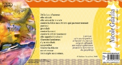 Poème de Nicole GDALIA, accompagné d'une maxime sur l'amour. Copyright Editions Caractères 2008