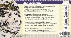 'Ma bohème' d'Arthur RIMBAUD, tiré des Cahiers de Douai