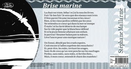 Texte intégral de 'Brise marine' de Stéphane Mallarmé.