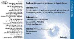Pause à Fleury /6 poème Patou K.
