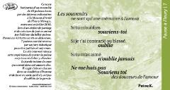 Pause à Fleury /7 poème Patou K.