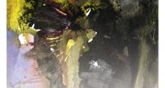 'Au détour d'un sentier...' de Max Alhau accompagné d'un détail de l'oeuvre de Danièle Brussot