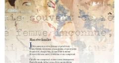 'Mon rêve familier' de Paul Verlaine accompagné d'un détail de l'oeuvre d'Emmanuel Laraque
