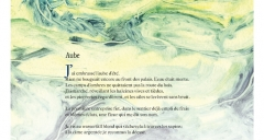 'Aube' d'Arthur Rimbaud accompagné d'un détail du monotype de Charles Fulgéras