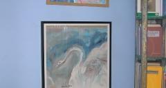 Peinture originale Charles fulgéras pour Victor Hugo 'Mes deux filles'